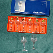 Cristal d'arques Longchamp 8 footed cordials