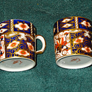 Royal Crown Derby Traditional Imari 2 demitasse cups