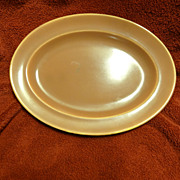 Homer Laughlin Wells Art Glaze rose peach oval platter
