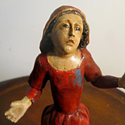 NEAPOLITAN Painted  Wood  and Gesso Mae Dolorosa 12""