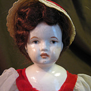 Early 1900's China Head Doll 9""