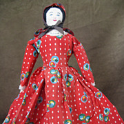 Early 1900s Cloth Rag Doll
