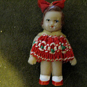 Vintage East German Miniature Rubber Doll (ARI)