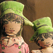 Early 1900's Lithograph Cut-Out Cloth Dolls