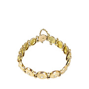 Estate 14K Gold and Diamond Bracelet