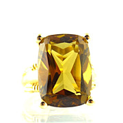 Madeira Citrine And 14k Yellow Gold Ring