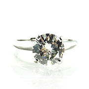 Vintage 2.17 Carat Diamond Solitare Engagement Ring 18K White Gol