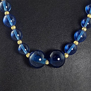Antique Peking Glass Bead Necklace