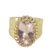 Morganite and 14K Gold Ring