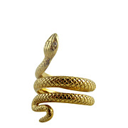 SOLD Vintage Coiled Snake Serpent Ring 14K Gold Hallmarked
