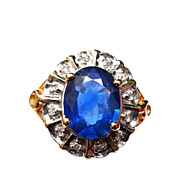3 Carat Kanchanaburi Sapphire 14K Gold Ring