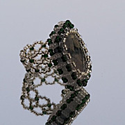 SALE Cocktail ring with faceted moss agate, 20% off!