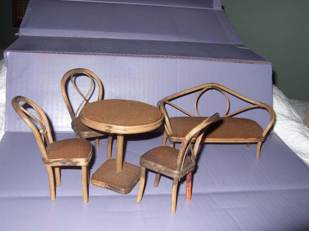 Antique Victorian Miniature Dollhouse Furniture From