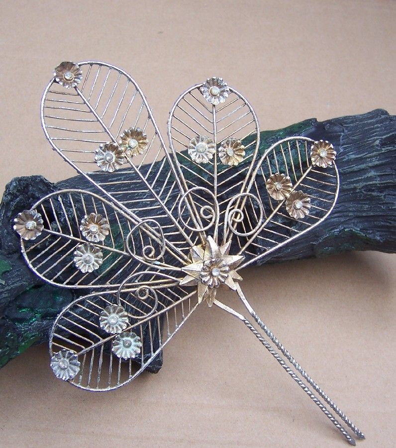Vintage Hair Comb Indonesia Sumatra Wedding Bridal Headdress