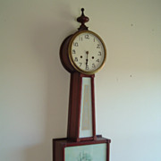 "SALE 19th Century New Haven ""Whitney"" Banjo Clock"