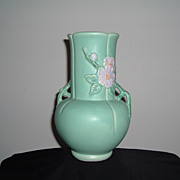 SALE Weller Pottery White Rose Vase