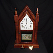 SOLD Incredible Waterbury Clock Co. &quot;Large Gothic&quot; 8-Day 30-Hour Steeple Clock, C. 1