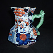 SALE Excellent Condition, Mason's Ironstone Imari Pattern Creamer, C. 1825