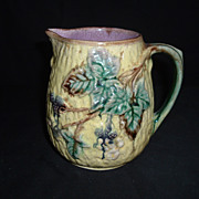 Wedgwood Majolica Blackberry Bramble Pitcher, C. 1880