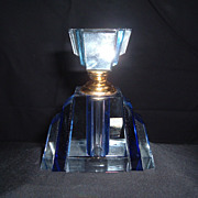 Ciel Blue Art Deco Perfume Bottle W/ Original Box, C. 1935