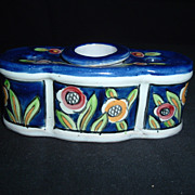 SALE 19th Century Aladin France Faience Single-Pot Inkwell