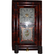 REDUCED 19th Century Mahogony,  E.N. Welch Ogee Shelf Clock