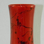 SALE Zsolnay Red and Black Decorative Vase