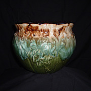SALE RRP, Co. Majolica-Style Jardiniere, #421, circa 1940