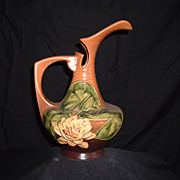 SALE Roseville Pottery Water Lily Ewer #11-10