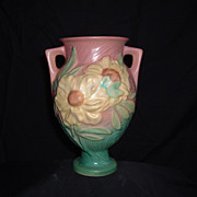 SALE Roseville Pottery Peony Trophy Vase #169-8