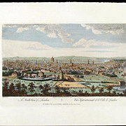 "SALE Rare Engraving ""A North View of London"", Canaletto, 1794"