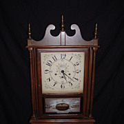 SALE New England Clock Company Pillar and Scroll Clock, c. 1960