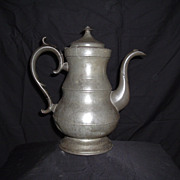 SALE 19th Century Boardman Pewter Coffee Pot, c. 1825-1830