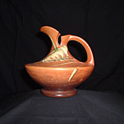 SALE Mint Roseville Pottery Freesia Ewer, #19-6, c 1945