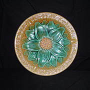 REDUCED Large Wedgwood Majolica Sunflower Cigar Ashtray, 1920's