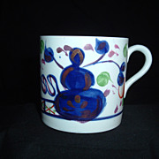 "SALE Allerton Gaudy Welsh Handled Child's Mug, ""Oyster Patter"", C 1930"