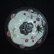REDUCED Wedgwood Majolica Argenta St. Louis Pattern Plate, C 1880