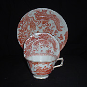 "REDUCED Royal Crown Derby "" Red Aves"" 3-Peice Dinner Set, C. 1980 (Set of 4)"