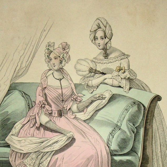 Antique Victorian Fashion Magazine Engraving 'Le Follett'
