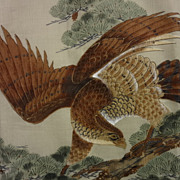 Amazing Vintage Hand Painted 'Hawke' Kimono.