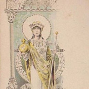 Early Fashion Series Palais du Costume 'Byzantine' Postcard c1900