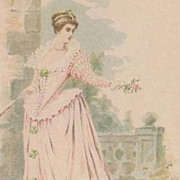 Early Fashion  Series Palais du Costume 'Gabrielle D'Estree' Postcard c1900