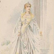 Early Fashion Series Palais du Costume 'Mariee Venitienne' Postcard c1900