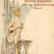Early Fashion Series Palais du Costume  'Middle-Ages' Postcard c1900