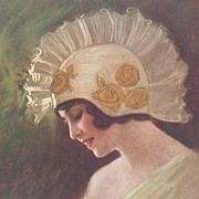 Signed Italian Art Deco Fashion Postcard c1920