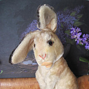 SALE Vintage 1950s - 1961 Large Steiff Mohair Manni Rabbit