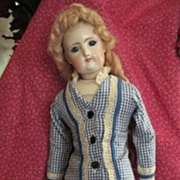 SALE French Fashion Poupee' China Doll with Closed Mouth and Original Body