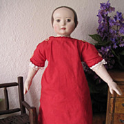 Adorable Cotton Antique Doll Dress Turkey Red
