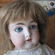 SALE Beautiful Antique German Bisque Head Kid Body Kestner Doll TLC
