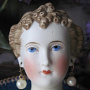 Antique Parian Countess Dagmar Conta Boehme Doll Shoulderhead TLC